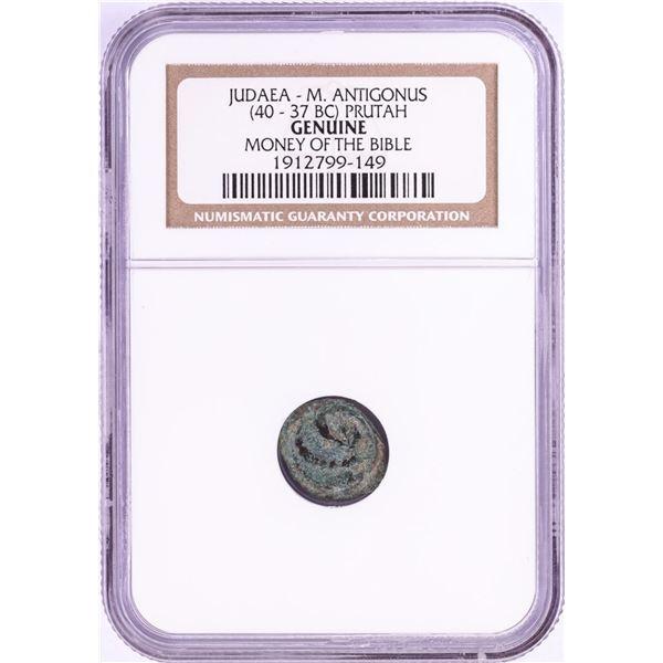 40-37 BC Judaea M. Antigonus Prutah Ancient Coin NGC Genuine