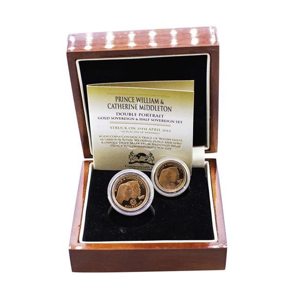 2011 Royal Wedding Proof Gold Sovereign & Half Sovereign Set w/ Box & COA