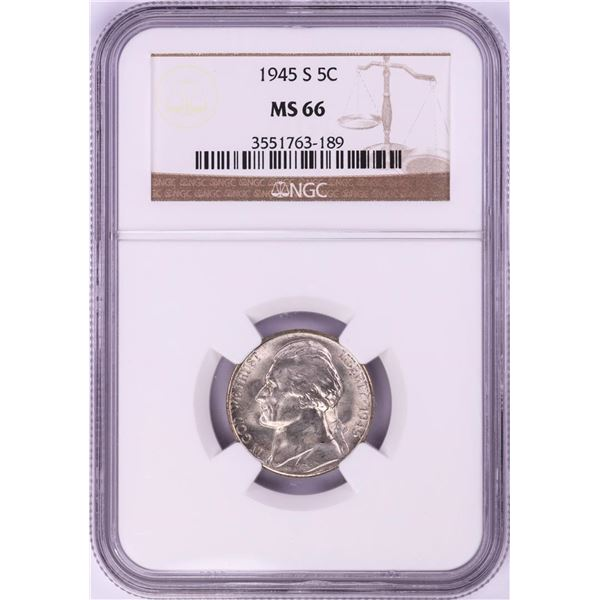 1945-S Jefferson Nickel Coin NGC MS66