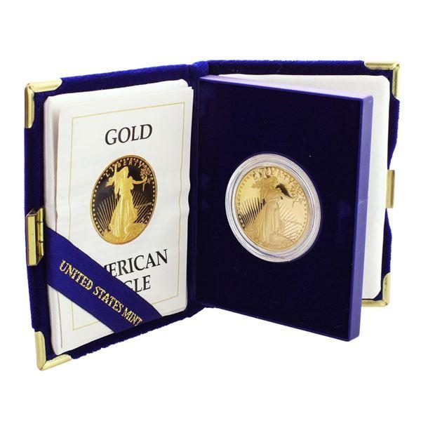 1988 $50 Proof American Gold Eagle Coin w/ Box & COA