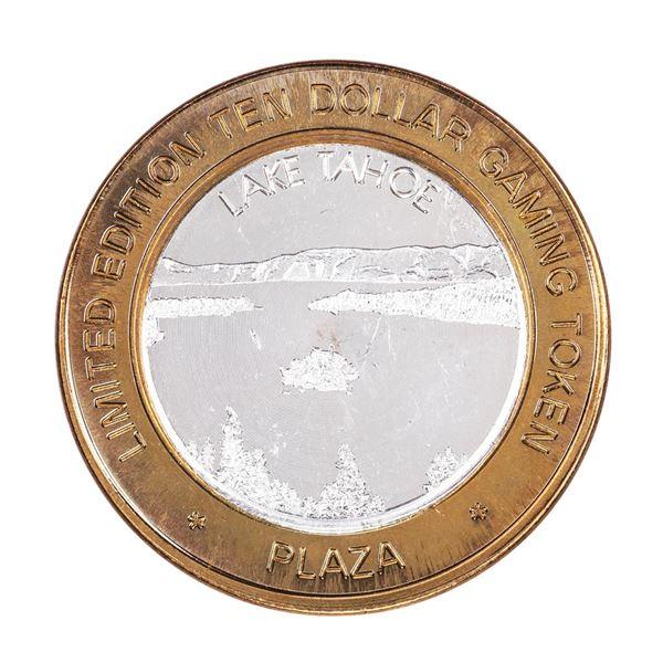 .999 Fine Silver Plaza Casino Las Vegas, Nevada $10 Limited Edition Gaming Token