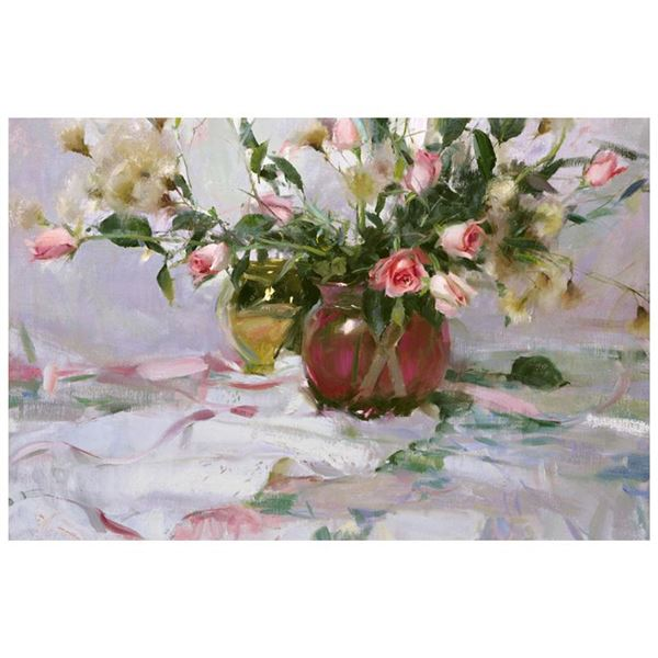 """Dan Gerhartz """"Roses & Thistle"""" Limited Edition Giclee on Canvas"""