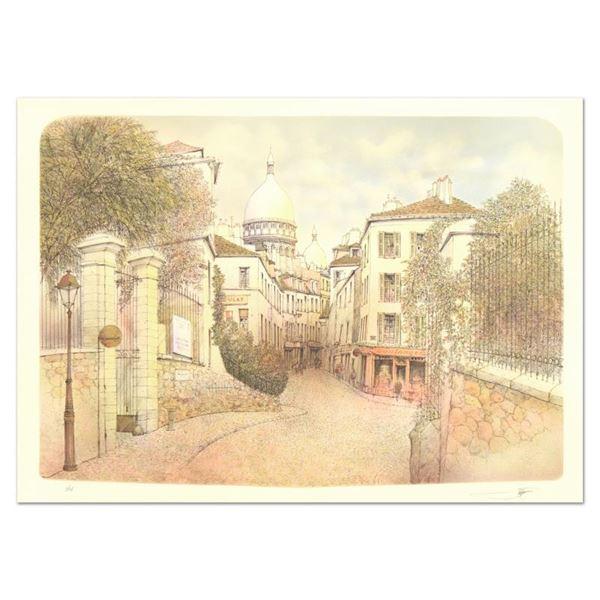 "Rolf Rafflewski ""Montmart"" Limited Edition Lithograph"