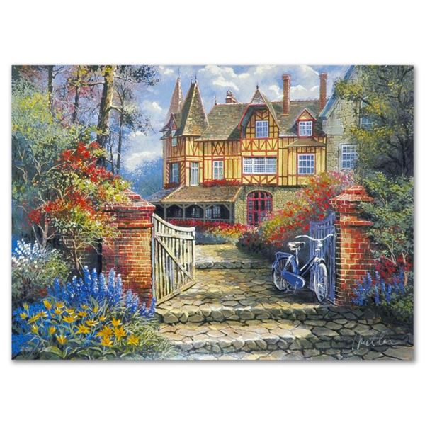 """Anatoly Metlan """"Castle in the Woods"""" Limited Edition Lithograph"""