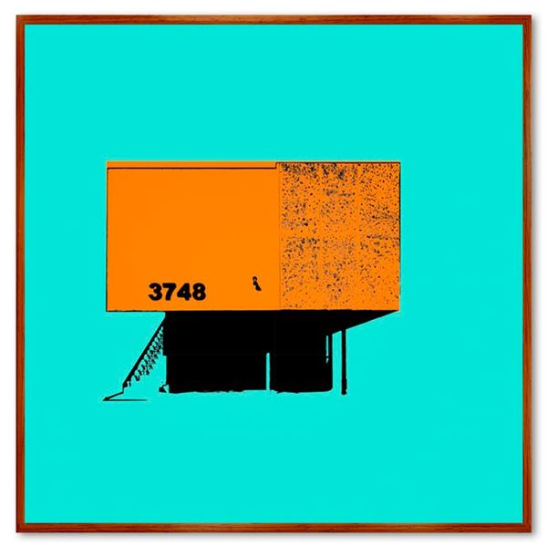 "Claudio Santini ""Dingbat 5"" Limited Edition Mixed Media on Canvas"
