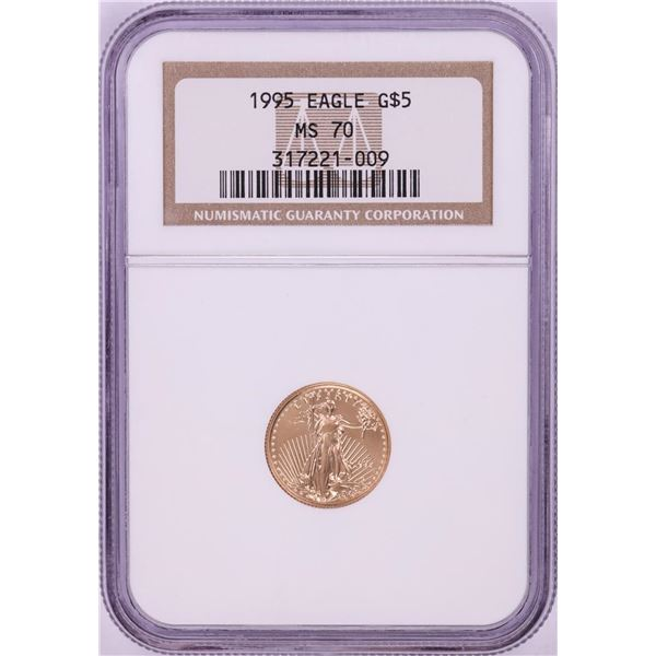 1995 $5 American Gold Eagle Coin NGC MS70