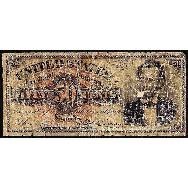 March 3, 1863 4th Issue Fifty Cents Lincoln Fractional Currency Note