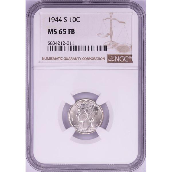 1944-S Mercury Dime Coin NGC MS65FB