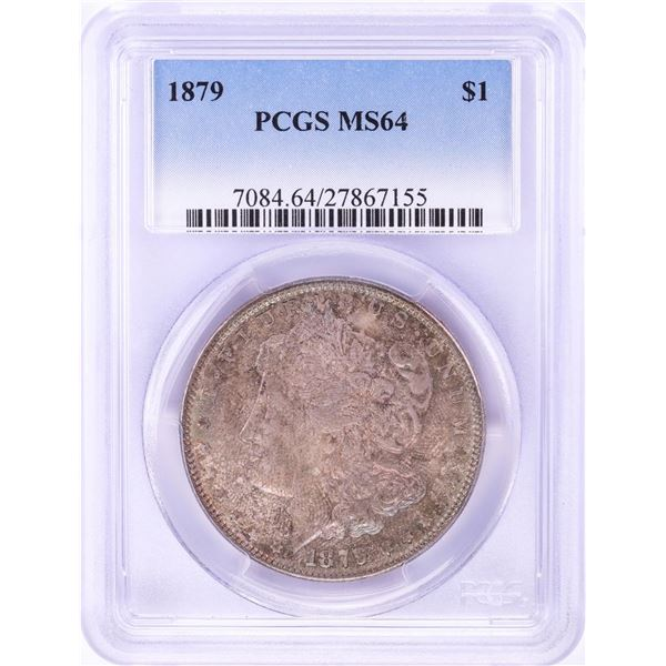 1879 $1 Morgan Silver Dollar Coin PCGS MS64 Nice Toning