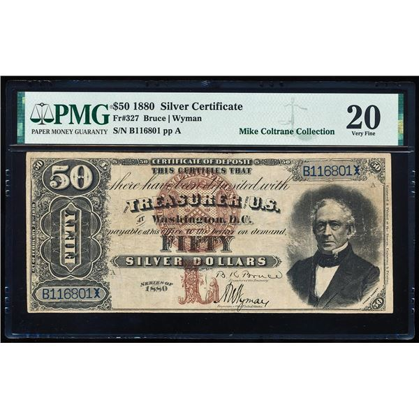 1880 $50 Silver Certificate Note Fr.327 PMG Very Fine 20