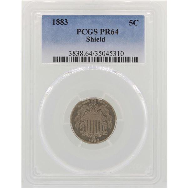 1883 Shield Nickel Proof Coin PCGS PR64