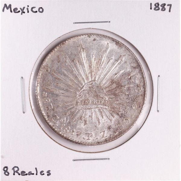 1887 Mexico 8 Reales Silver Coin