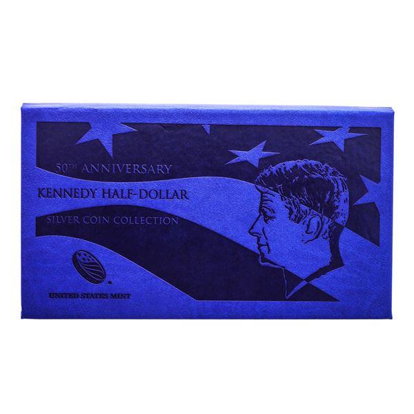 2014 50th Anniversary Kennedy Half Dollar Silver Coin Collection w/ Box & COA