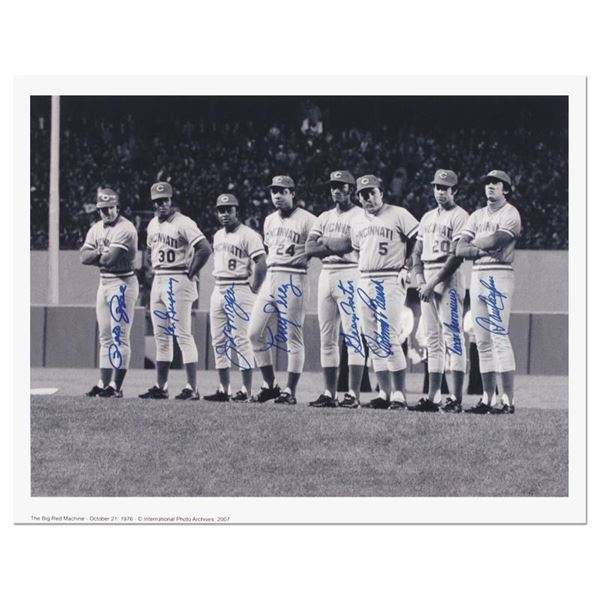 """Pete Rose """"Big Red Machine Line-Up"""" Lithograph"""