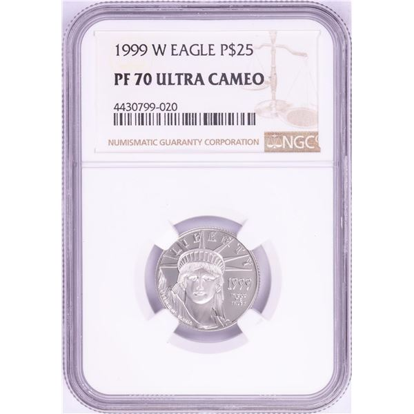 1999-W $25 Proof Platinum American Eagle Coin NGC PF70 Ultra Cameo