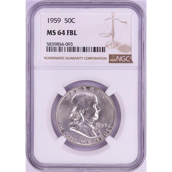 1959 Franklin Half Dollar Coin NGC MS64FBL