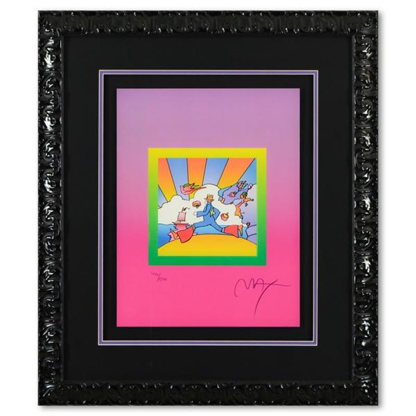 """Peter Max """"Cosmic Runner on Blends Ver II"""" Limited Edition Lithograph on Paper"""