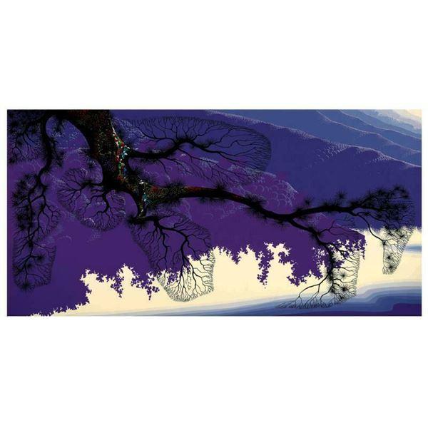"""Eyvind Earle (1916-2000) """"Purple Coastline"""" Limited Edition Serigraph"""