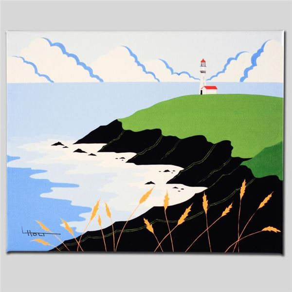 """Larissa Holt """"Fisherman's Lighthouse"""" Limited Edition Giclee on Canvas"""