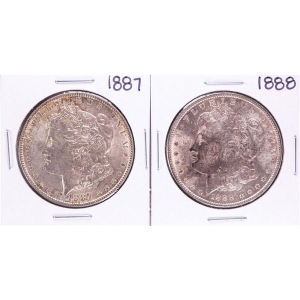 Lot of 1887-1888 $1 Morgan Silver Dollar Coins