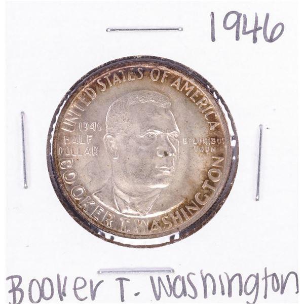 1946 Booker T Washington Commemorative Half Dollar Coin Nice Toning