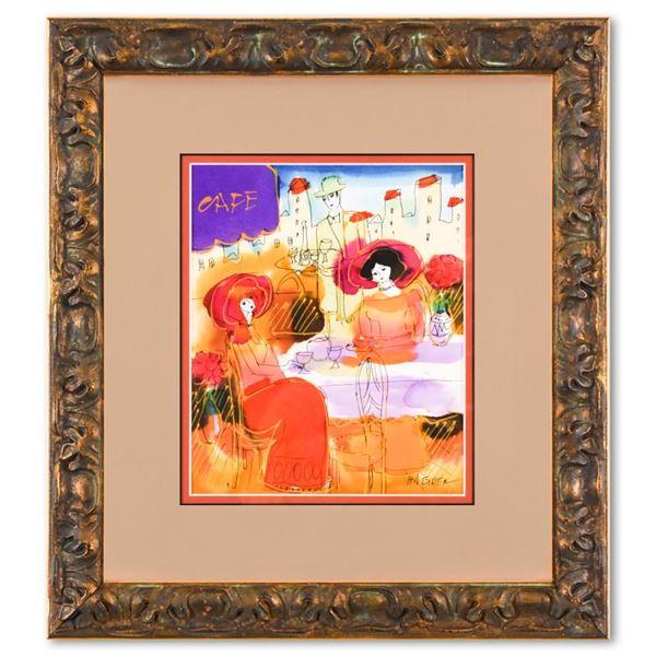 Moshe Leider Original Watercolor in Custom Frame