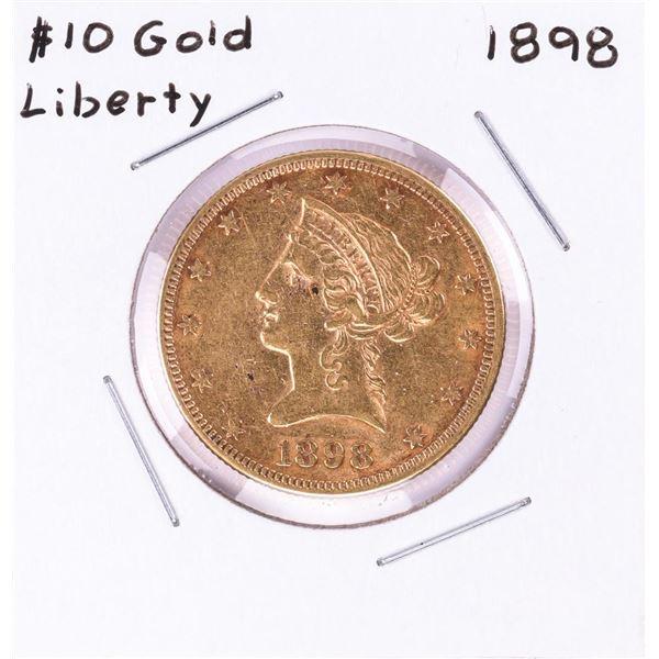 1898 $10 Liberty Head Eagle Gold Coin