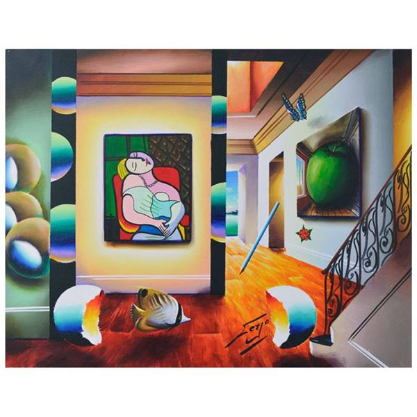 "Ferjo ""Picasso Meets Magritte"" Original Oil on Canvas"