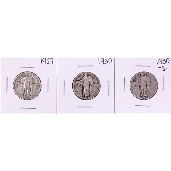 Lot of (3) Standing Liberty Quarter Coins