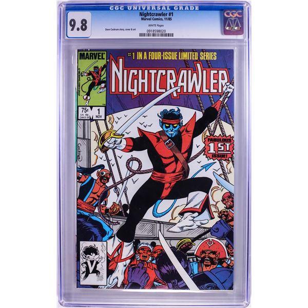 Marvel Comics Nightcrawler #1 Comic Book 11/85 CGC 9.8
