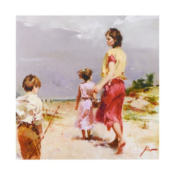 """Pino (1939-2010) """"Going Fishing"""" Limited Edition Giclee on Canvas"""