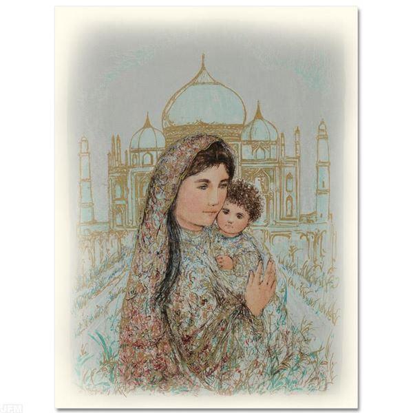 "Edna Hibel (1917-2014) ""Majesty at the Taj Mahal"" Limited Edition Lithograph"