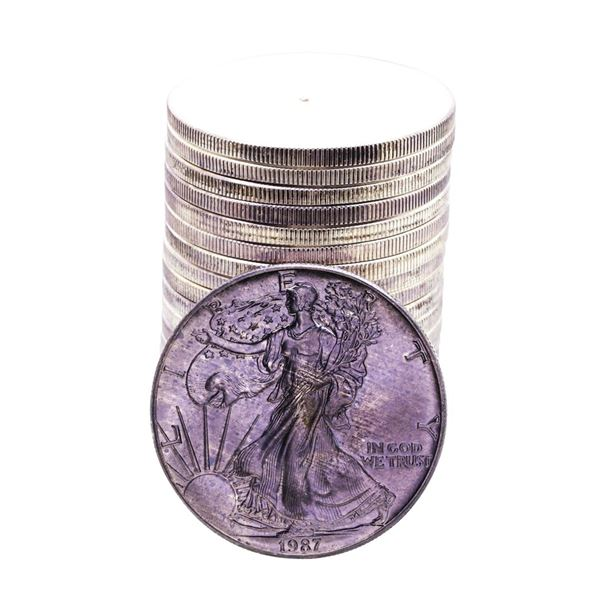 Roll of (20) Brilliant Uncirculated 1987 $1 American Silver Eagle Coins