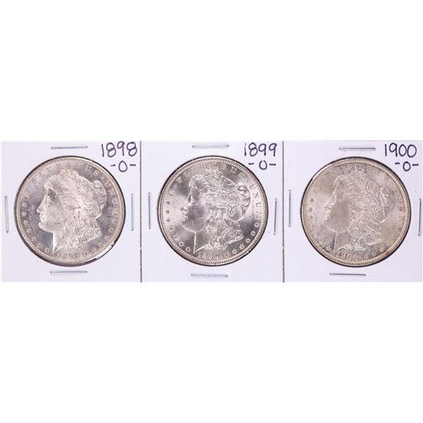 Lot of 1898-O to 1900-O $1 Morgan Silver Dollar Coins