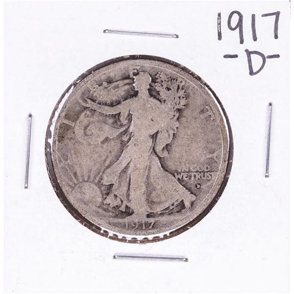 1917-D Obverse Walking Liberty Half Dollar Coin