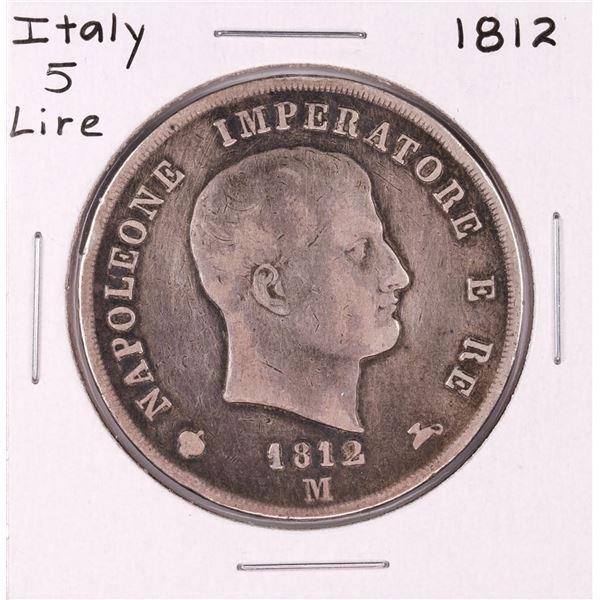 1812-M Italy 5 Lire Silver Coin