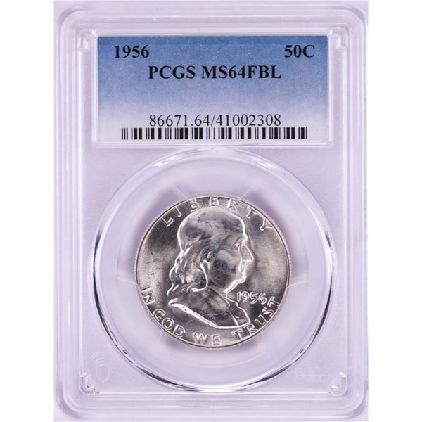 1956 Franklin Half Dollar Coin PCGS MS64FBL