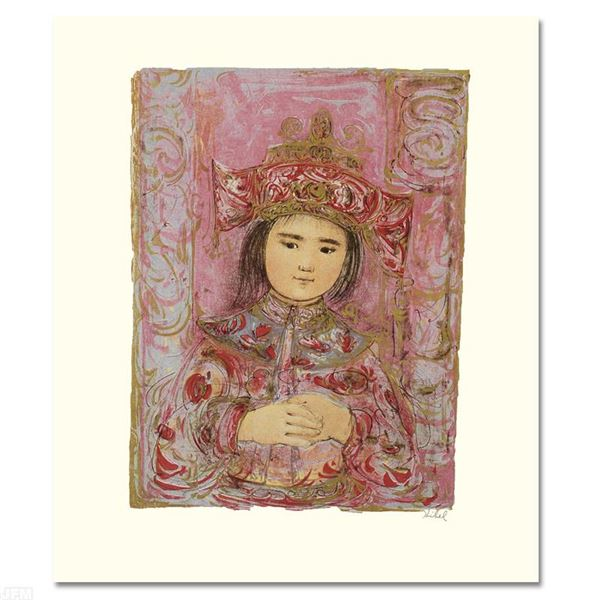 """Edna Hibel (1917-2014) """"Child of the East"""" Limited Edition Lithograph"""