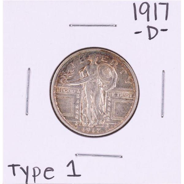 1917-D Type 1 Standing Liberty Quarter Coin