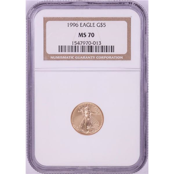 1996 $5 American Gold Eagle Coin NGC MS70