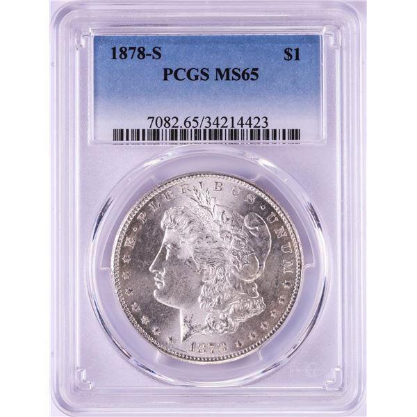 1878-S $1 Morgan Silver Dollar Coin PCGS MS65