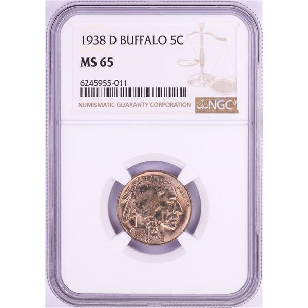 1938-D Buffalo Nickel Coin NGC MS65