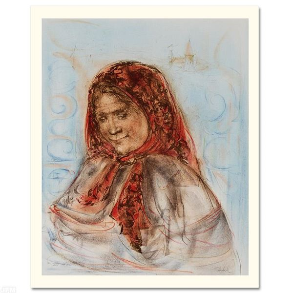 """Edna Hibel (1917-2014) """"Swiss Woman"""" Limited Edition Lithograph"""