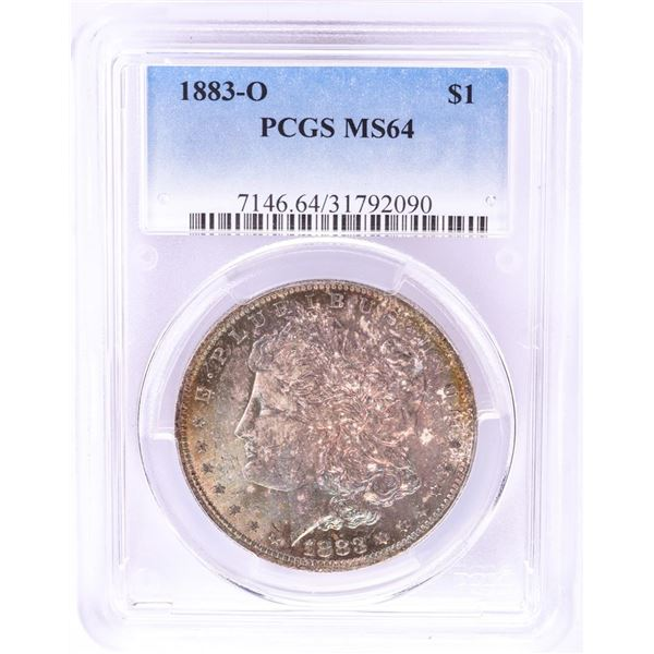 1883-O $1 Morgan Silver Dollar Coin PCGS MS64 Nice Toning