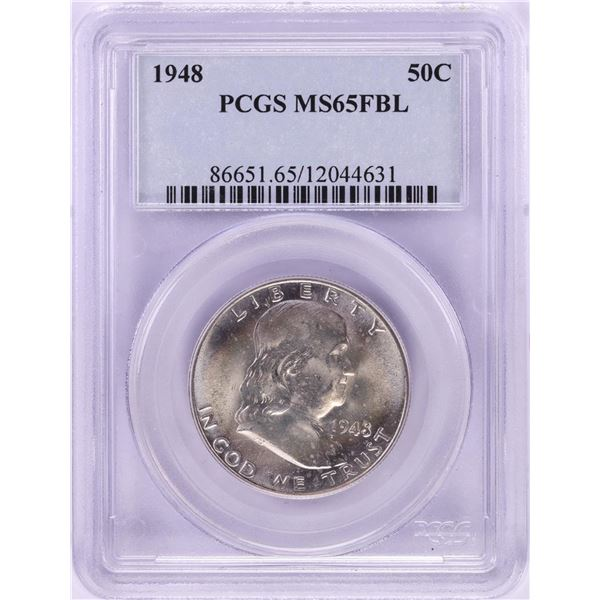 1948 Franklin Half Dollar Coin PCGS MS65FBL
