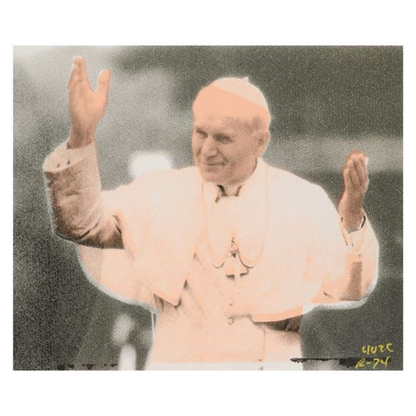 "Ringo Daniel Funes ""The Pope"" Original Mixed Media on Canvas"