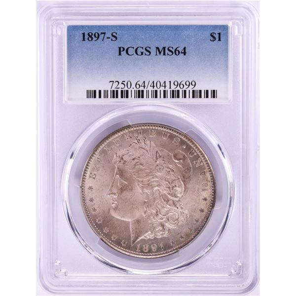 1897-S $1 Morgan Silver Dollar Coin PCGS MS64