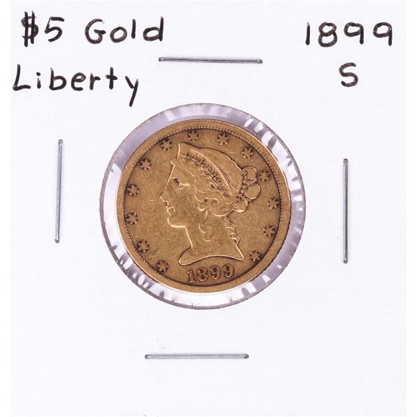 1899-S $5 Half Eagle Gold Coin