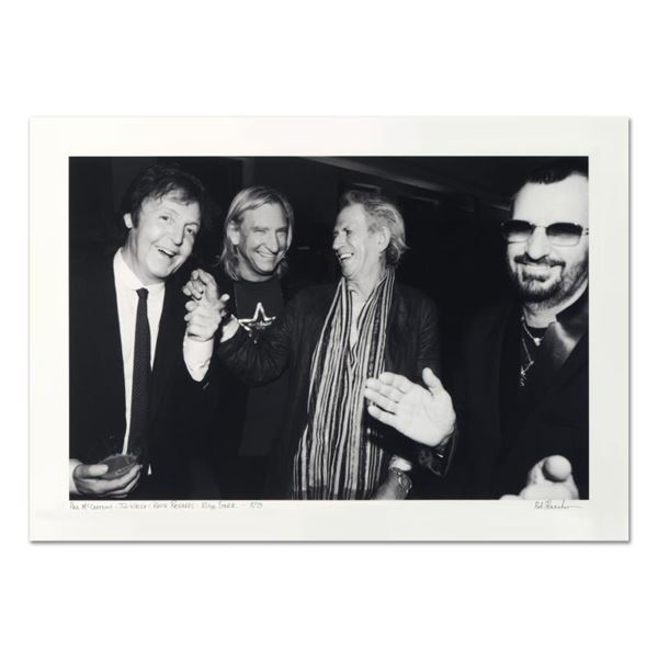 "Rob Shanahan ""Paul McCartney, Joe Walsh, Keith Richards & Ringo Starr"" Limited Edition Giclee"