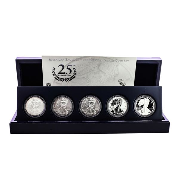 2011 American Silver Eagle 25th Anniversary Coin Set w/ Box & COA